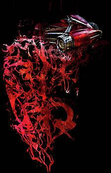 T Shirt Deconstruct Red Cadillac by Glenda Wright