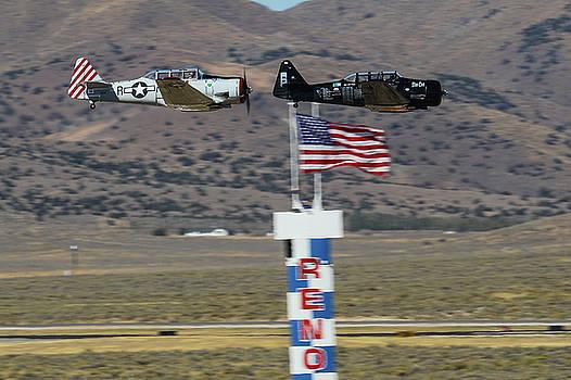 John King - T6 Tango at Reno Air Races Home Pylon Finish Line