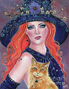 Tabitha halloween Witch by Renee Lavoie