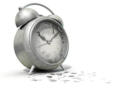 Table Clock Time Running Out by Allan Swart