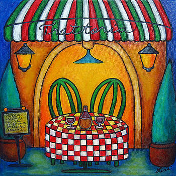 Table for Two at the Trattoria by Lisa  Lorenz
