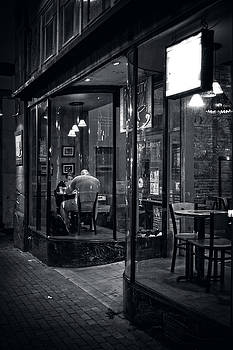 Table For Two in Black and White by Greg and Chrystal Mimbs