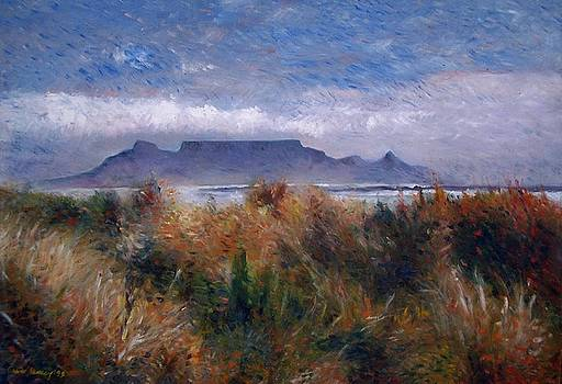 Table Mountain from Blouwbergstrand Cape Town South Africa 1999 by Enver Larney