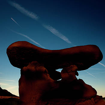 A Table Rock at Goblin Valley State Park by Gary Warnimont