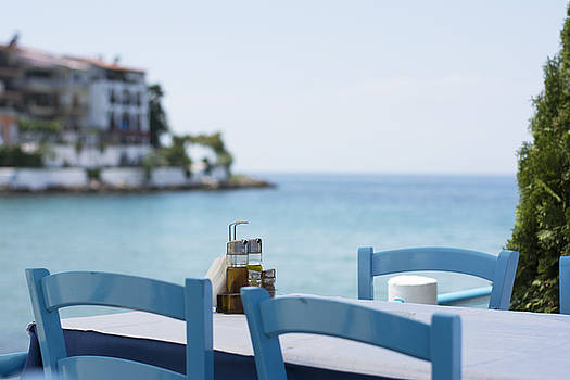 Newnow Photography By Vera Cepic - Table set in restaurant on seaside