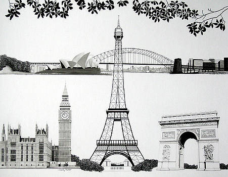 Tableau of Landmarks by Candy Prather