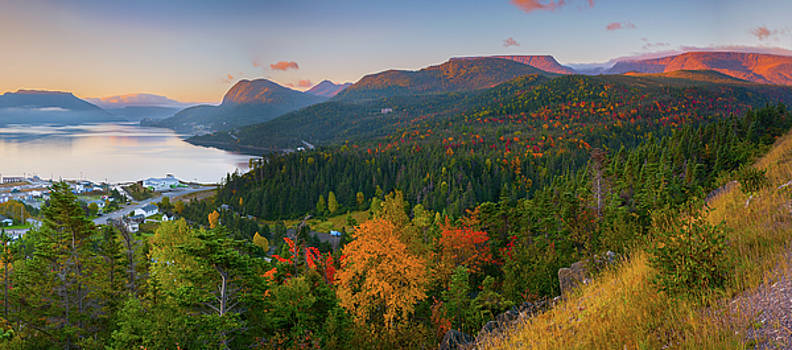 Tablelands and Bonne Bay at Sunrise by Tom Hamilton