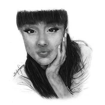 Ariana Grande Drawing By Sofia Furniel by Jul V