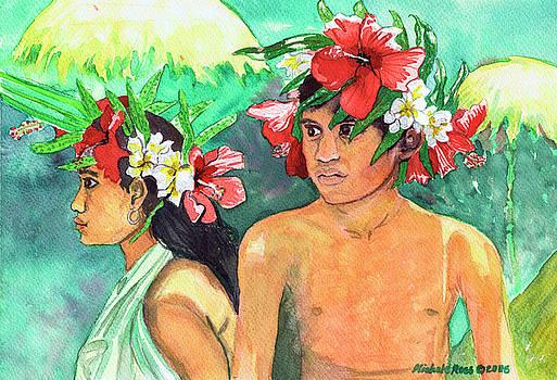 Tahitian Kids by Michele Ross