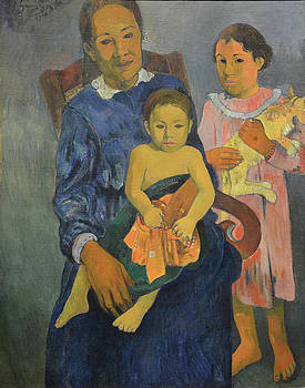 Gauguin - Tahitian Woman And Two Children