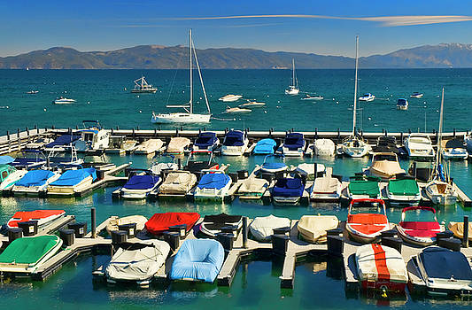 Tahoe Keys Marina by Mick Burkey