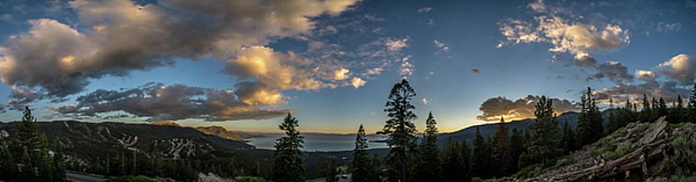 Tahoe sunset panorama1 by Martin Gollery