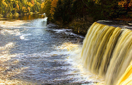 Tahquamenon falls and river by Pat Cook