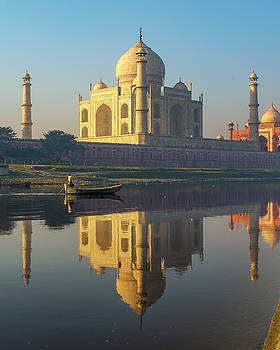 Taj Mahal and Yamuna River by Ken Aaron