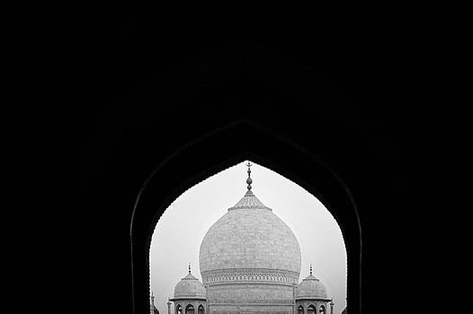 Taj Mahal Mosque View BW IIII by Erika Gentry