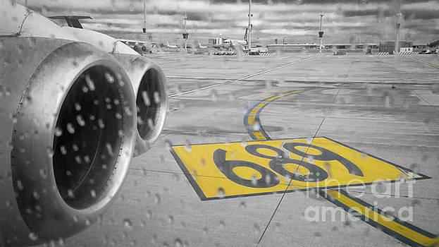 Take off on a rainy day by Vyacheslav Isaev