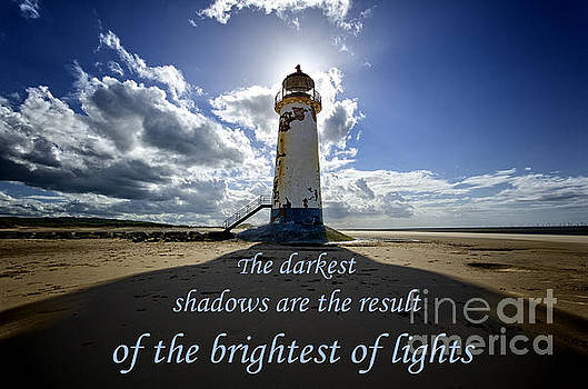 Talacre lighthouse quote by Steev Stamford