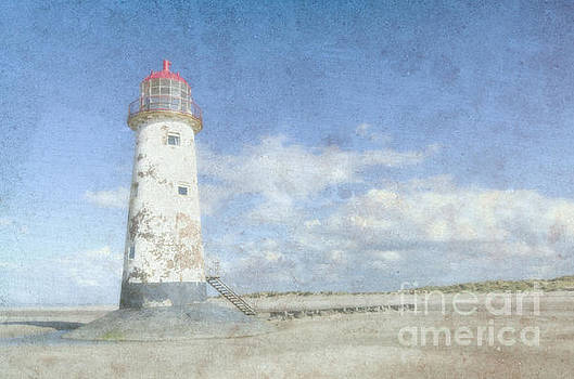Talacre lighthouse textured by Steev Stamford