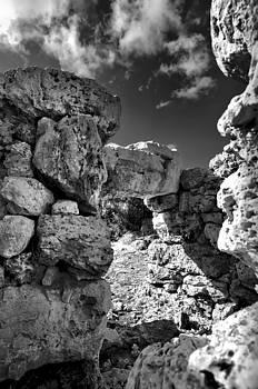 Pedro Cardona Llambias - Talaior of Cornia in Menorca megalithic monument hailing the new day