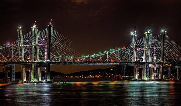 Tale of 2 Bridges at Night by Jeffrey Friedkin