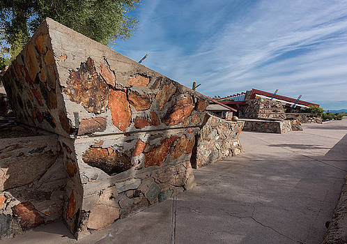 Taliesin West Entrance Court by Steve Gadomski