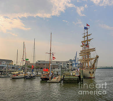 Tall Ship Europe docked in the Lowcountry by Dale Powell