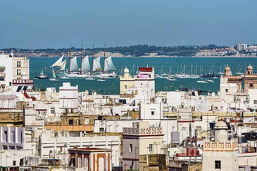 Tall Ship Juan Sebastian Elcano Departing Cadiz Spain by Pablo Avanzini