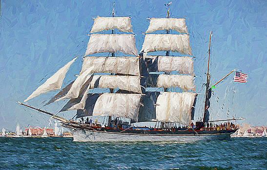 Tall Ship Sailing by Ray Keeling