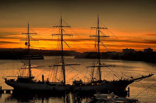 Pedro Cardona Llambias - Tall ship sunrise by pedro cardona