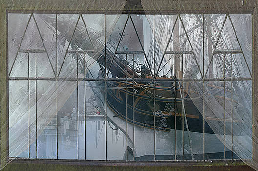 Tall ship through a window by Jeff Burgess
