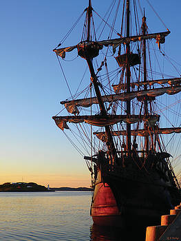 Tall Ships Halifax 2017 - El Galeon at Sunrise by Celtic Artist Angela Dawn MacKay