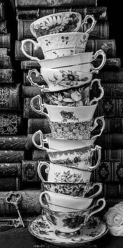 Tall Stack Of Tea Cups by Garry Gay