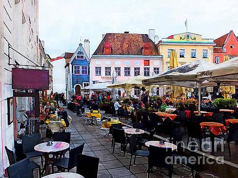Justyna Jaszke JBJart - Tallinn street art watercolor