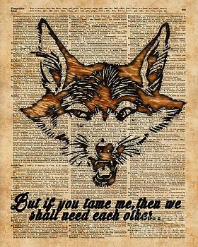 Tame Me - Fox said. Dictionary Art  by Anna W