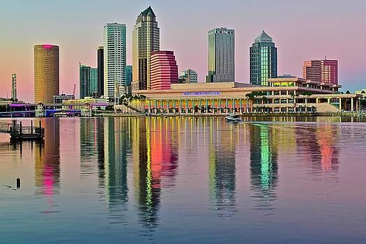 Frozen in Time Fine Art Photography - Tampa Illuminates at Sundown