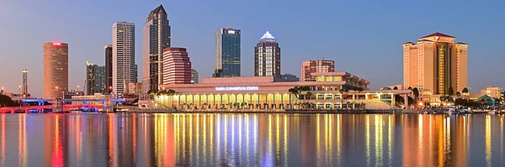 Frozen in Time Fine Art Photography - Tampa Panoramic Sunset