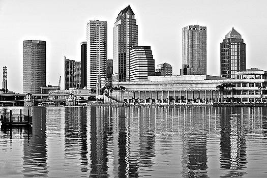 Frozen in Time Fine Art Photography - Tampa Shimmers in Grayscale