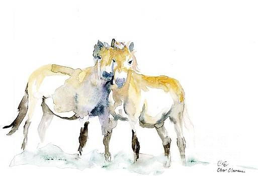 Tan horses by Cher Clemans