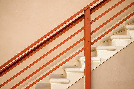 Tan Stairs Venice Beach California by David Smith