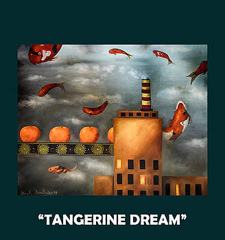 Leah Saulnier The Painting Maniac - Tangerine Dream with Lettering