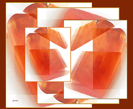 Tangerine Patchwork Collage by Gretchen Wrede