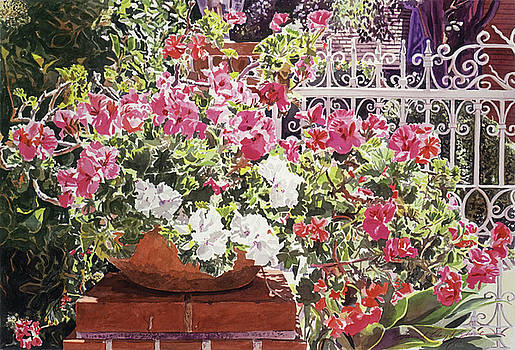 Tangled Terra Cotta Pot by David Lloyd Glover