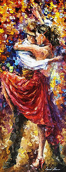 Tango Of Movement - PALETTE KNIFE Oil Painting On Canvas By Leonid Afremov by Leonid Afremov