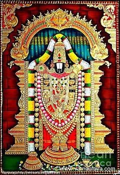 Tanjore Painting -Balaji  by Rekha Artz
