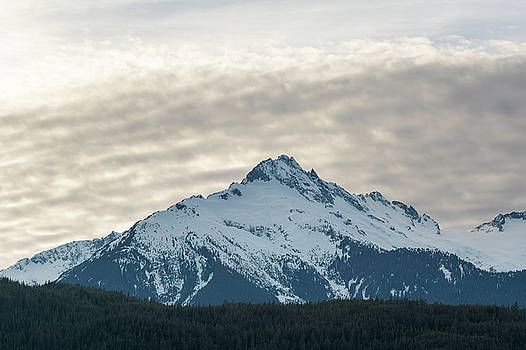 Tantalus Mountain Range Closeup by David Gn