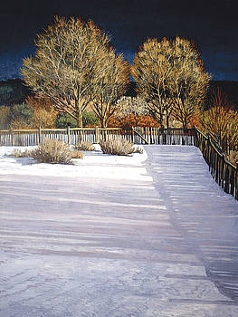 Taos Afternoon Shadows by Donna Clair
