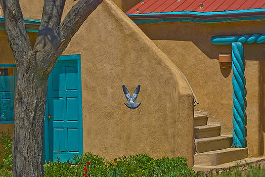 Taos courtyard by Jim Wright