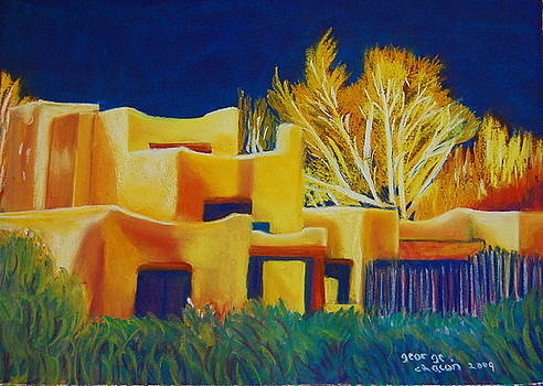 Taos light late winter by George Chacon