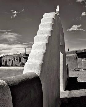 Taos Pueblo gate by Kenneth Eis