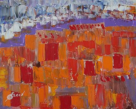 Taos Pueblo original painting by Sol Luckman